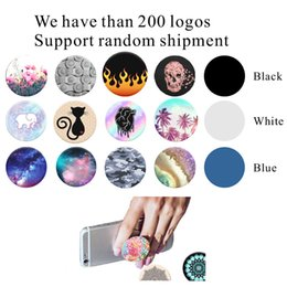 Pop phone socket mobile holder For iPhone 7 Cell Phone Tablet PC with retail package Real 3M glue support reusable Custom Logo