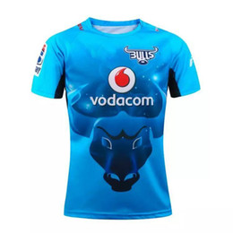 Wholesale DHL bulls blue Rugby jerseys NRL National Rugby New zealand League new jersey top class best quality rugby shirt