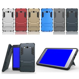 Wholesale For Samsung J5 J7 J1 ACE Impact Cover With Kickstand Cool Iron Man Armor Dual Phone Case Stand Holder Cases J2 J5 J7 Prime G530