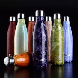 Wholesale DHL colors Swell Large Stainless Steel water Bottle Vacuum Flask Cup S well Sports water Bottles ml Best quality
