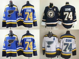 Wholesale Factory Outlet st louis blues jersey TJ Oshie dark blue and baby blue jerseys number and name is stitched