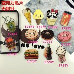 Crème glacée animale en Ligne-Nouvelle Arrivée HARAJUKU Badges Cartoon Figure de beignet Burger Ice Cream Epaulette Broches acrylique Accessoires de mode ab67