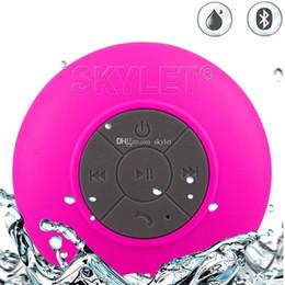 BTS06 Waterproof Speaker Wireless Shower Handsfree Bluetooth Speakers Car Waterproof Portable mini MP3 Super Bass Receive Call Music In BOX