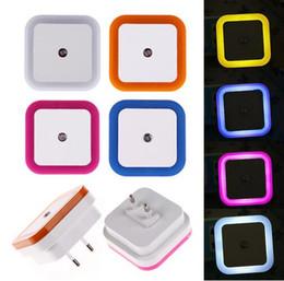 Wholesale 2016 auto mini W LED light V V sensor control square CE ROHS bedroom night lights bed lamp