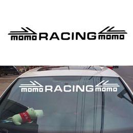 Promotion fenêtres course Car Styling Pour Momo Racing Avant Et Pare-Brise Posté Autocollants Réfléchissants Autocollants Avant Fenêtre Jdm