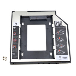 """Una caja portadiscos disco en venta-Universal SATA a SATA 2 HDD Caddy 9.5mm para 2.5 """"SSD Caja de unidad de disco duro para el ordenador portátil ODD Optibay Optical Bay"""