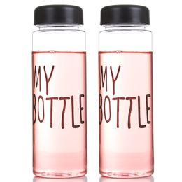 Promotion choix de sports Ma Bouteille Ma Bouteille D'eau Favori BPA FREE Plastic Water Cup Amoureux Portable Choix Pour Sports Outdoor School