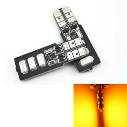 LEEWA 50pcs Amber T10 W5W 194 168 6SMD 5630 LED Canbus Error Free Car LED Light Bulb #4315
