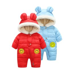 2017 new baby conjoined clothing autumn and winter ear style cotton lap climbing piecemeal clothing boys and girls climbing clothes home ser