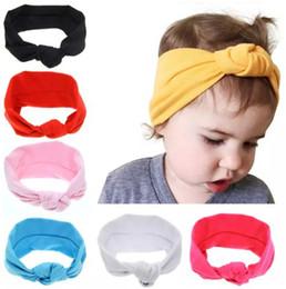 Newborn Baby Girls Knotted Cross Elastic Headbands Infant Kids Turban Hairbands Headwear Children Hair Accessories Free Shipping