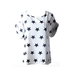 Promotion imprimé floral t-shirts femmes Vente en gros - 2016 femmes été imprimé floral en mousseline de soie T-shirts Top occasionnels en vrac T-shirts t-shirts