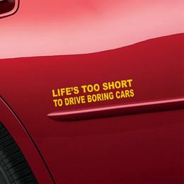 Acheter en ligne Fenêtres course-Vente en gros 10pcs / lot La vie trop courte Cherish Good Life JDM Art Stickers Autocollant de vitesses de course pour Motorhome Truck SUV Window Vinyl Decal