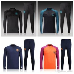 Wholesale 2016 Barcelona Home Away Jersey best quality shirt Long sleeves sweater tracksuit set