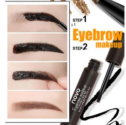 Wholesale High quality tear dye glue automatically rotate the eyebrow pencil eyebrow Double lasting waterproof dye cream eyebrow not dizzy catch send