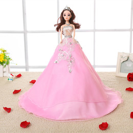 47cm Fashion ornaments handmade Wedding Princess 3D doll Material Forged cloth strengthen the hard mesh body has a beautiful flower