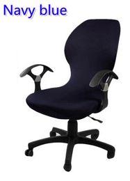 Bleu Marine Couleur Lycra Housse De Chaise Dordinateur Ajustement Pour Bureau Avec Accoudoir Spandex Dcoration La Couverture En