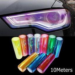 Changement de couleur des phares à vendre-10m / rouleau x30cm Chameleon Brillant Auto Car Styling Phares Feux arrières Feux de film translucide Turned Change Color Car Sticks