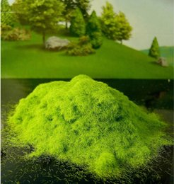 Wholesale G lightgreen Outdoor landscape construction sand table model material lawn turf grass powder viscose