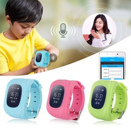Dispositivo perdido niño online-Cheape Sales Q50 Anti Perdidos GPS Kid Tracker Niños Monitor SIM Tracking Device Smart Watch