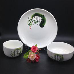 Wholesale Chinese style Ceramic Tableware Dinnerware Set and Ceramic Dinnerware can be high temperature health Dinnerware