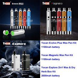 Yocan Evolve Plus Yocan Explore 2 in 1 Dry Herb & Wax Starter Kit Yocan Magneto Wax Pen Dry herb Vaporizers Starter Kits