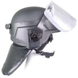 Alto nivel de Qulity IIIA de liberación rápida visera balística extraíble y cuello balístico Protector equipado con casco PASGT a prueba de balas desde visera extraíble casco fabricantes