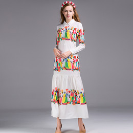 Large Size XXXL Summer Women's Retro Maxi Long Dress Floral Printing Runway Holiday Vintage Loose Vestidos High Quality