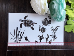 Drawing stencil wholesale laser cut stencils Masking template For Scrapbooking album and more-The undersea world 220
