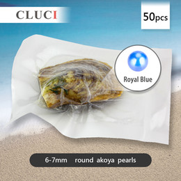 Wholesale New Product Blue mm Akoya Round Cultured Pearl Oyster