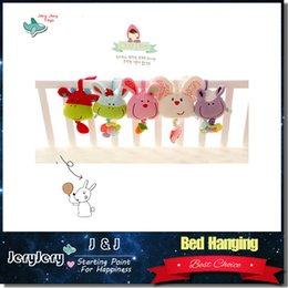 Wholesale Soft Plush Musical Baby Rattles Mobiles Stuffed Toy With BB Device Stroller Hanging Bed Dolls Rabbit Educational Toy Months