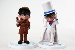 Promotion la figure conan 2PcsSet Anime Détecteur Conan PVC Figurines Figurines Modèle Poupées 15 ~ 19cm Grand cadeau