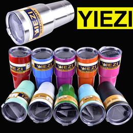 Wholesale 30oz oz oz oz YIEZI Rambler Tumbler Bilayer Insulation Cups Cars Beer Mug Large Capacity Mug Tumblerful DHL OTH242