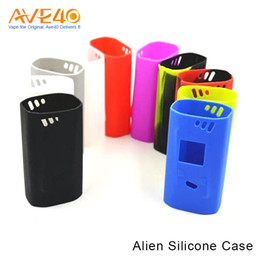 Nuevo diseño TFV8 Smok Alien 220W caja colorida del silicón Alien Kit del bebé AL85 Kit piel / cubierta del silicón / manga del silicón para Smok alien 220 w Caja desde silicio w proveedores