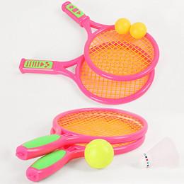 2017 juguete de la raqueta de tenis Juego de Pelota de Tenis Raquetas de Tenis Bádminton Juguetes al Aire Libre de Playa Juguetes Juego de Niños-Padres Juguetes Educativos de Color Aleatorio VE0245 juguete de la raqueta de tenis baratos