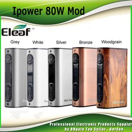 Authentic Eleaf iPower 80W TC Mod 5000mah Battery Firmware upgraded Firmware Newly Added Reset Function 100% genuine DHL Free 2205055