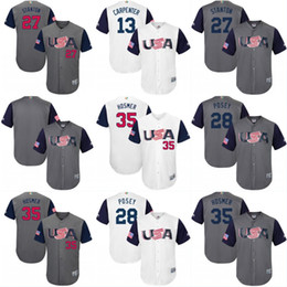Wholesale 2017 USA World Baseball Classic WBC Jersey Adam Jones Andrew Miller Buster Posey Michael Fulmer Paul Goldschmidt Jerseys