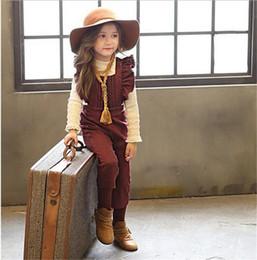 Wholesale 2 color NEW ARRIVAL Korean style pleated Denim Bib pants girl overalls T