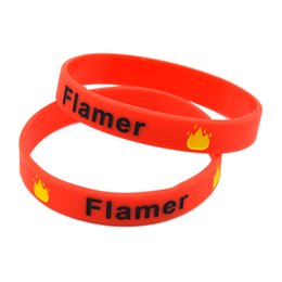 Wholesale New Arrived 100PCS Lot Decoration Bangle Ink-Filled Logo Flamer Silicone Wristband Fashion Bracelet Adult Size
