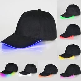 Los sombreros de los hombres en venta-HOT Gorras De Béisbol Sombreros LED Luminoso Partido Fibra Óptica Hat Mujeres Hombres Hockey Snapback Baloncesto Ball Gorras Unisex Visor Turismo WX-H01