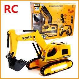 Wholesale Electric RC toys Wireless Excavator channel remote control excavator truck truck cars
