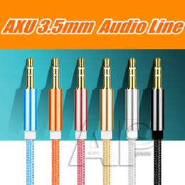 3.5mm cable de audio del conector online-1M macho a macho 3.5mm universal enchapado en oro cable de audio estéreo Jack auxiliar Jack de cable AUX para Jack dispositivo