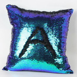 Wholesale Lit Sofa - Double color sequins hold pillowcase bead piece of sofa cushion embroidery cushion for leaning on European pillowcases