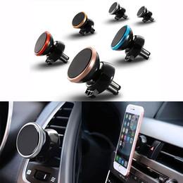 Promotion vent mount gps Support de berceau magnétique pour berline de voiture 360 pour téléphone portable universel avec emballage de détail DHL