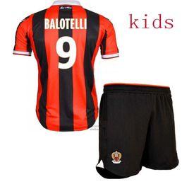 Wholesale 2016 Balotelli OGC Nice Home Away Jersey Children third RD best quality shirt KIDS BOYS