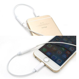 Wholesale Earphone Converter Charging Connector Cord for iPhone Plus mm Jack Audio Aux Port Headphone Cable Adapter Line