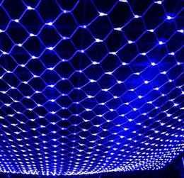 2017 rgb led net LED Net Light 2 * 3M / 4 * 6M / 8 * 10M Meshwork Lampes Décoration de Noël Ornement extérieur Feuille de mariage Feuille de lumière Lumières de cordes rgb led net sur la vente