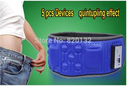 Wholesale HOT SALE best quality vibration massage belt with motors for lose weight and heating function slimming belt DHL
