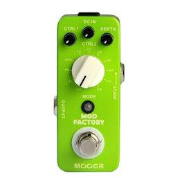 Efectos de modulación en venta-Mooer Mod Factory Pedal de la guitarra de la modulación Recogida 11 clases de pedal clásico del efecto de la guitarra de la modulación