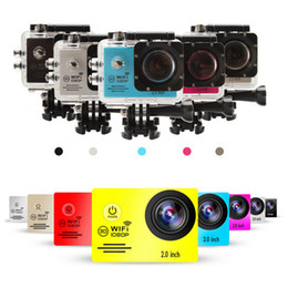Wholesale SJ7000 INCH LCD WIFI Action Camera Full HD P Degree Lens Underwater M Mini cam recorder Extra battery