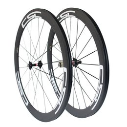 CSC 50mm Clincher Tubular Tubelss carbon road bike wheels racing bicycle wheelset Novatec hub + aero spokes 23mm,25mm Width